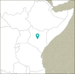 Kenya country study map