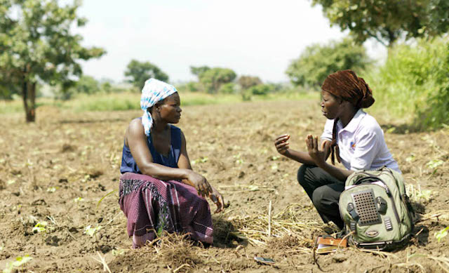 Women farmer working with TechnoServe to improve cotton production in Uganda